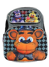 Backpack - Five Nights at Freddys - Large 16 Inch - Gray Black - 3D