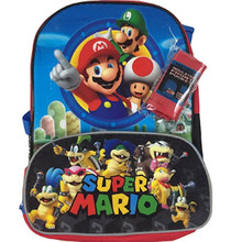 Backpack - Super Mario Brothers - Large 16 Inch - Bonus Carry Tote