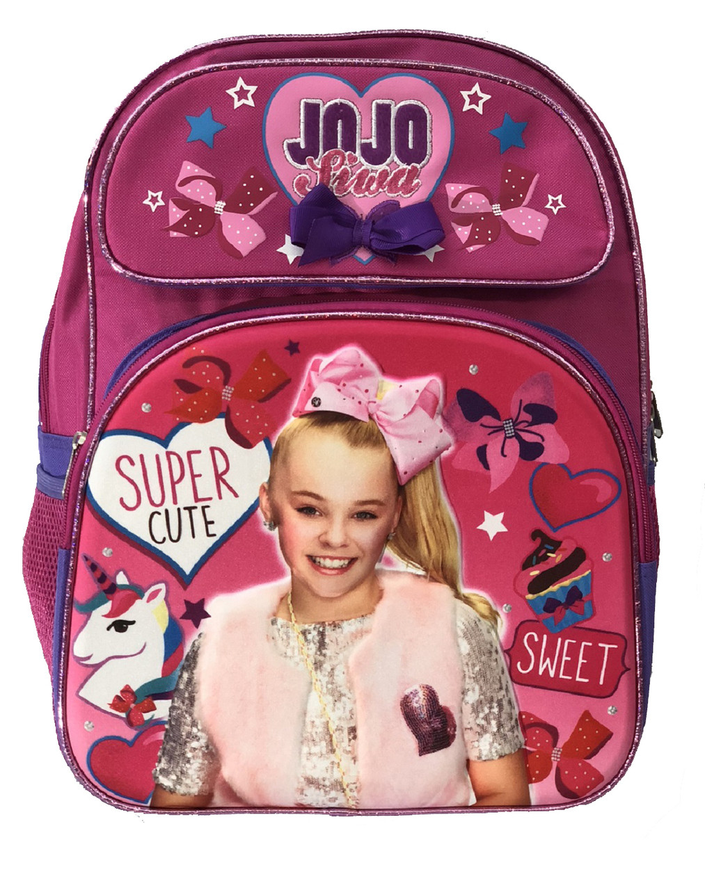 Backpack - JOJO Siwa - Large 16 Inch - Pink - 3D
