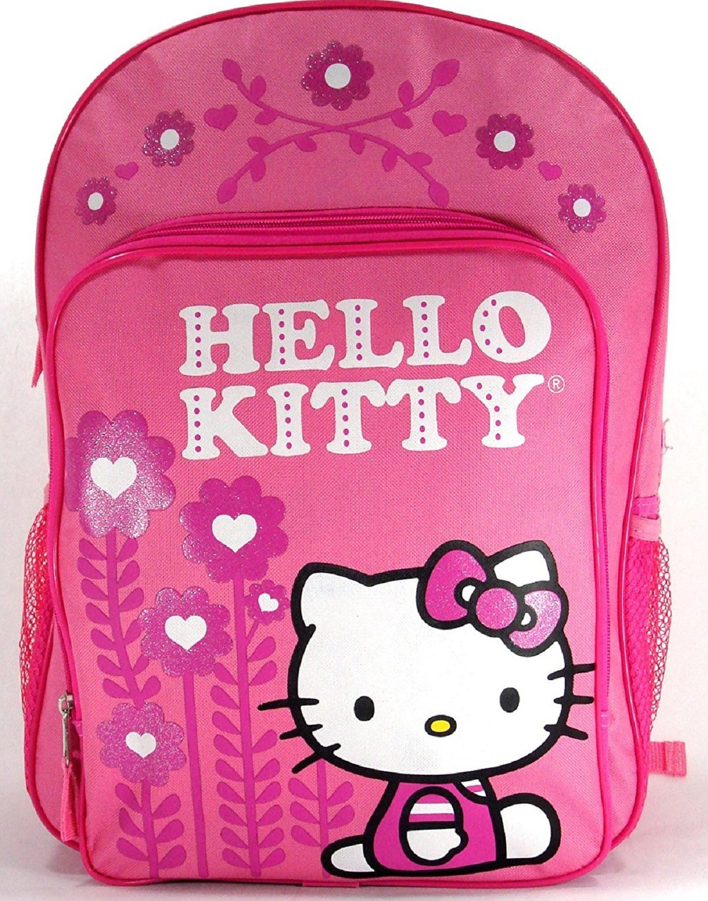 83d4b57c2531 Backpack - Hello Kitty - Large 16 Inch - Flowers