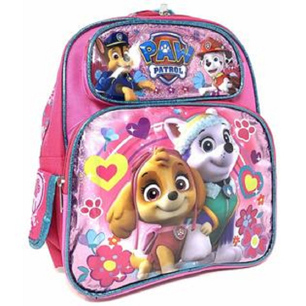 Backpack - Paw Patrol - Small 12 Inch - Pink - Everest + Skye