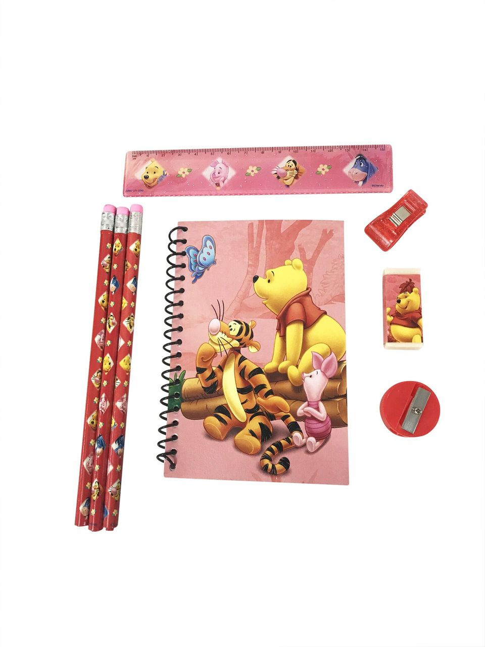 Stationery Set - Winnie the Pooh - Red - 6pc Favor Set