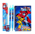 Stationery Set - Transformers - Blue - 6pc Favor Set