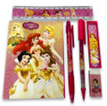 Stationery Set - Princess - Gold - 6pc Favor Set