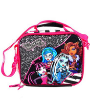 Lunch Box - Monster High - Insulated - Black White