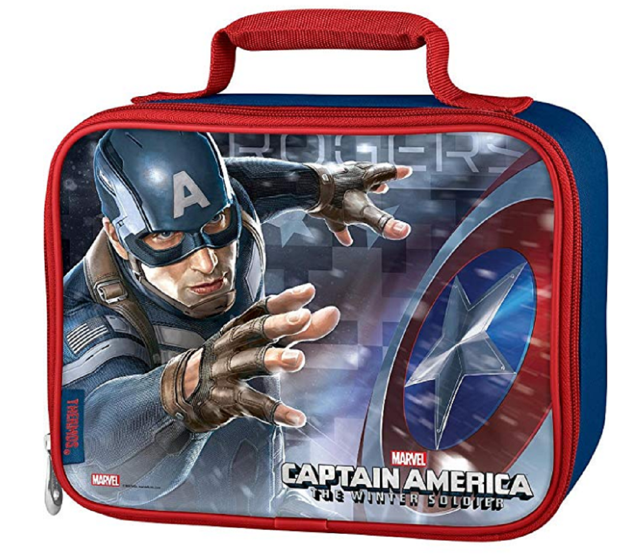 Lunch Box - Captain America - Insulated - Blue