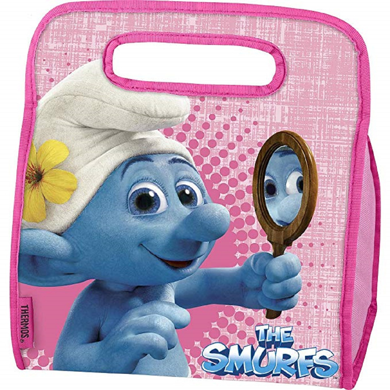 Lunch Box - Smurfs - Insulated - Pink
