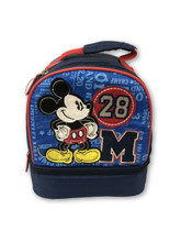 Lunch Box - Mickey Mouse - Insulated - Dual Zipper - Blue