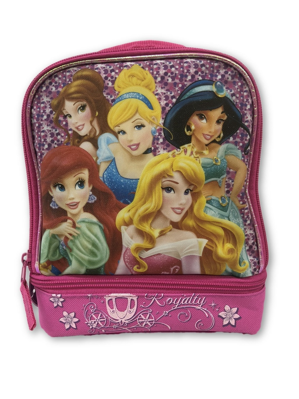 Lunch Box - Princess - Insulated - Dual Zipper - Hot Pink - Royalty