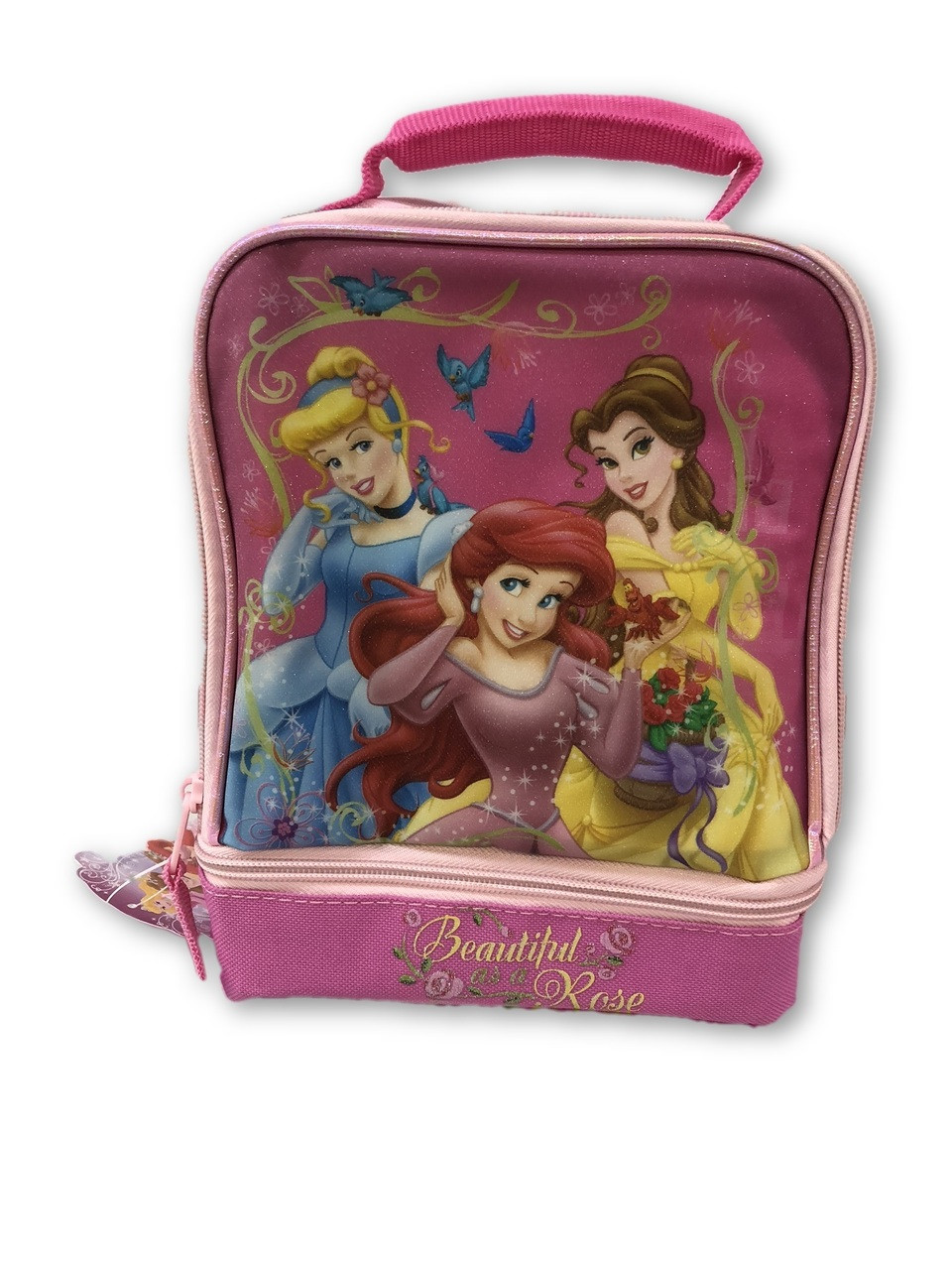 Lunch Box - Princess - Insulated - Dual Zipper - Pink - Beautiful Rose