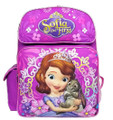 Backpack - Sofia the First - 16 Inch Large - Purple - Girls- front