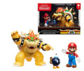 Action Figure - Super Mario Brothers - Mario vs Bowser Diorama Set Wave 1