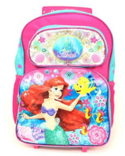 Backpack - Ariel the Little Mermaid - Large Rolling 16 Inches - New Design