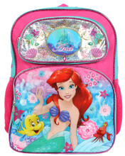 Backpack -Ariel- Little Mermaid - Large 16 Inches