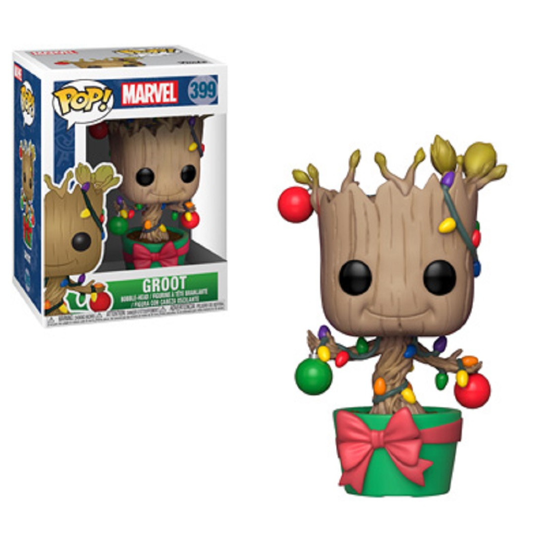 Funko POP - Marvel Holiday - Groot - Vinyl Collectible Figure - w Lights and Ornaments