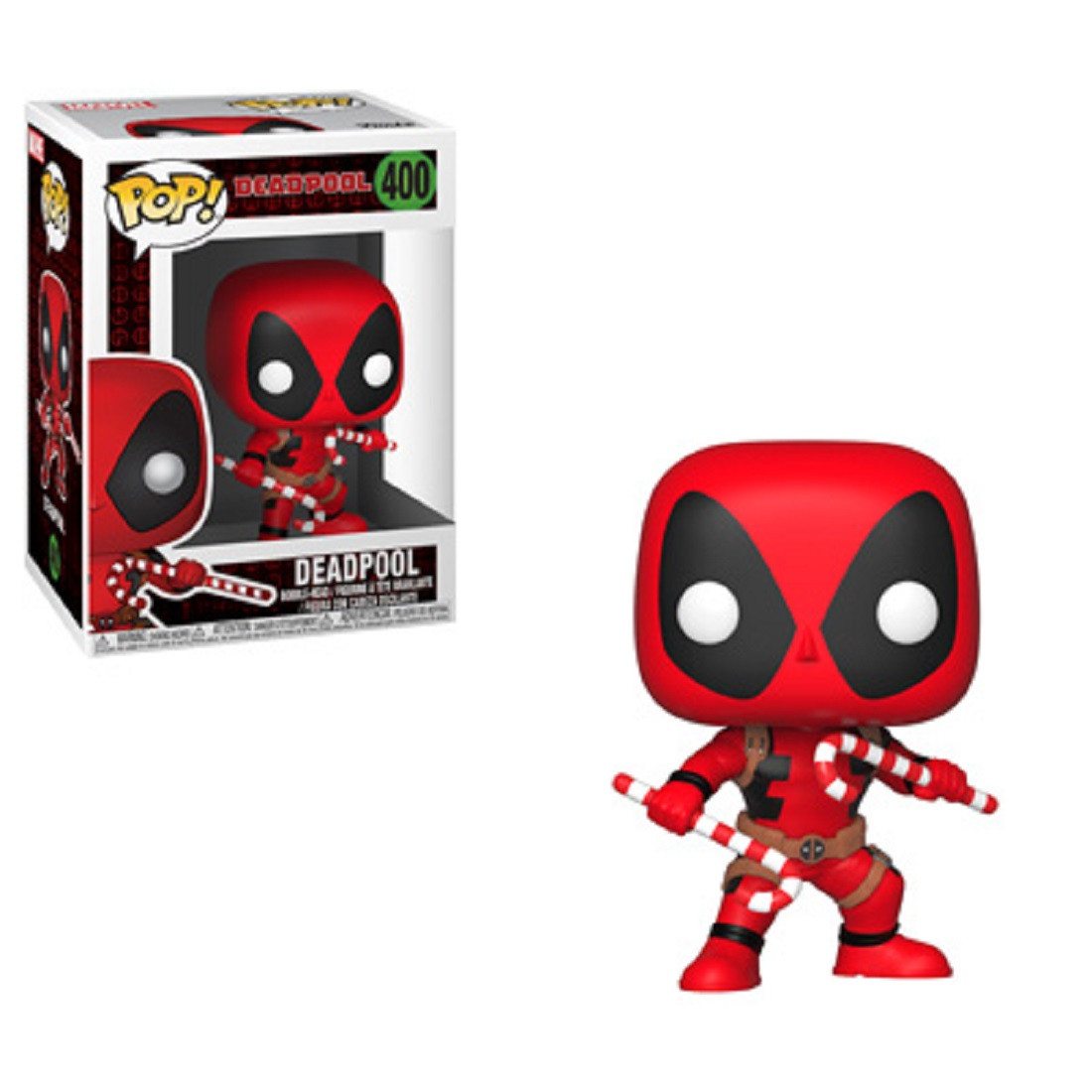 Funko POP - Marvel Holiday - Deadpool - Vinyl Collectible Figure - w Candy Canes
