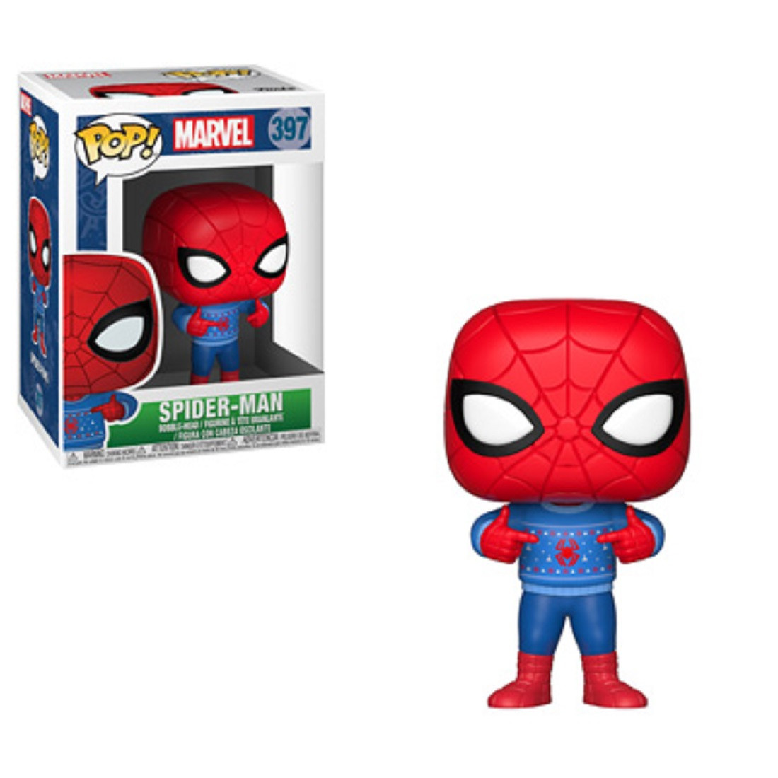 Funko POP - Marvel Holiday - Spiderman - Vinyl Collectible Figure - w Ugly Sweater