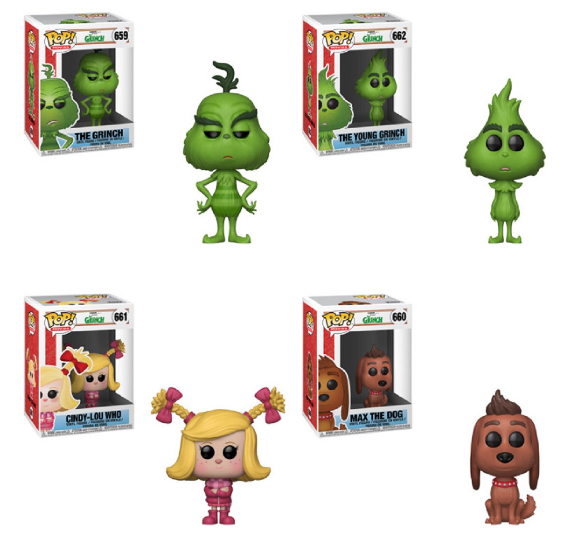 Funko POP - The Grinch Movie - Grinch Bundle - Vinyl Collectible Figures