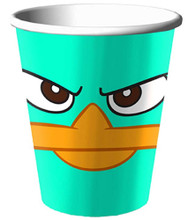 Cups - Phineas and Ferb - 9oz Paper - 8ct - Perry