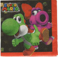 Napkins - Super Mario Brothers - Small - Paper - 2Ply - 16ct - 10 X 10 in