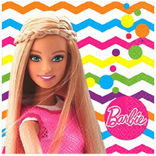 Napkins - Barbie - Small - Paper - 2Ply - 16ct - 10 X 10 in