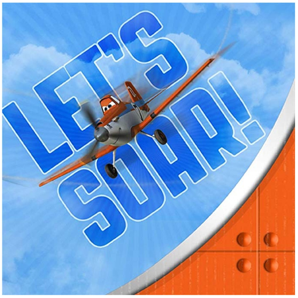 Napkins - Planes - Small - Paper - 2Ply - 16ct - 10 X 10 in