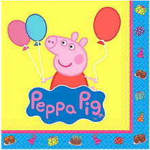 Napkins - Peppa Pig - Small - Paper - 2Ply - 16ct - 10 X 10 in