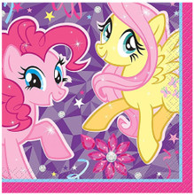 Napkins - My Little Pony - Small - Paper - 2Ply - 16ct - 10 X 10 in
