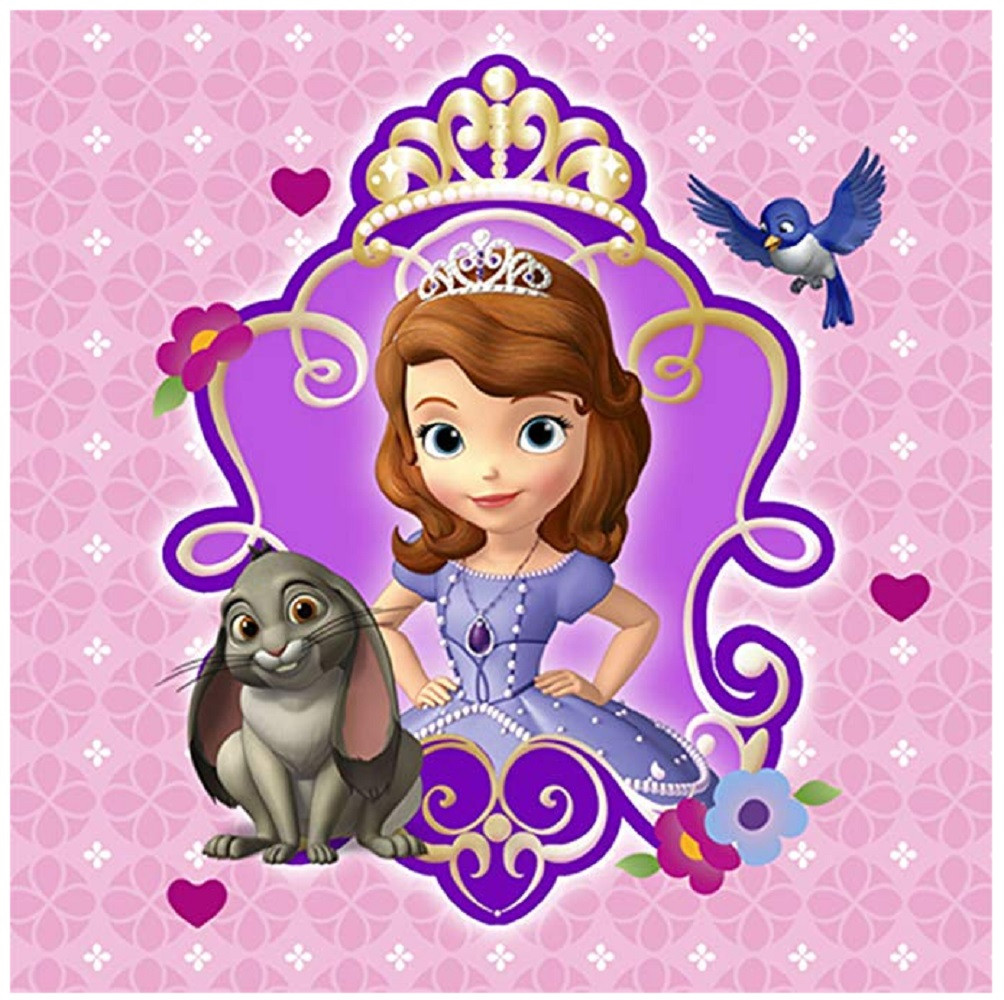 Napkins - Sofia the First - Small - Paper - 2Ply - 16ct - 10 X 10 in