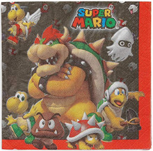 Napkins - Super Mario Brothers - Large - Paper - 2Ply - 16ct - 13 X 13 in