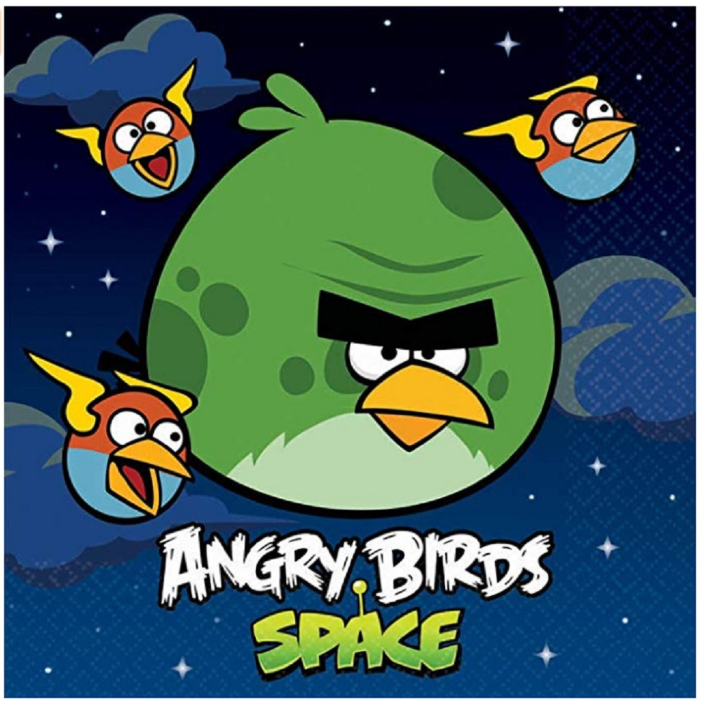 Napkins - Angry Birds - Large - Paper - 2Ply - 16ct - 13 X 13 in