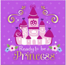 Napkins - Sofia the First - Large - Paper - 2Ply - 16ct - 13 X 13 in