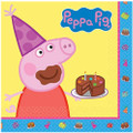 Napkins - Peppa Pig - Large - Paper - 2Ply - 16ct - 13 X 13 in