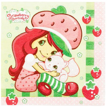 Napkins - Strawberry Shortcake - Large - Paper - 2Ply - 16ct - 13 X 13 in