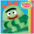 Napkins - Yo Gabba Gabba - Large - Paper - 2Ply - 16ct - 13 X 13 in