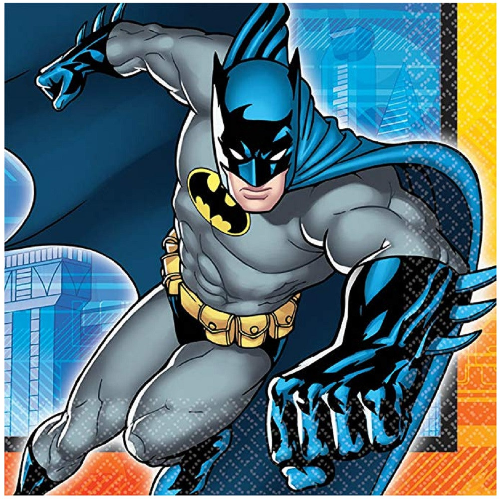 Napkins - Batman - Large - Paper - 2Ply - 16ct - 13 X 13 in