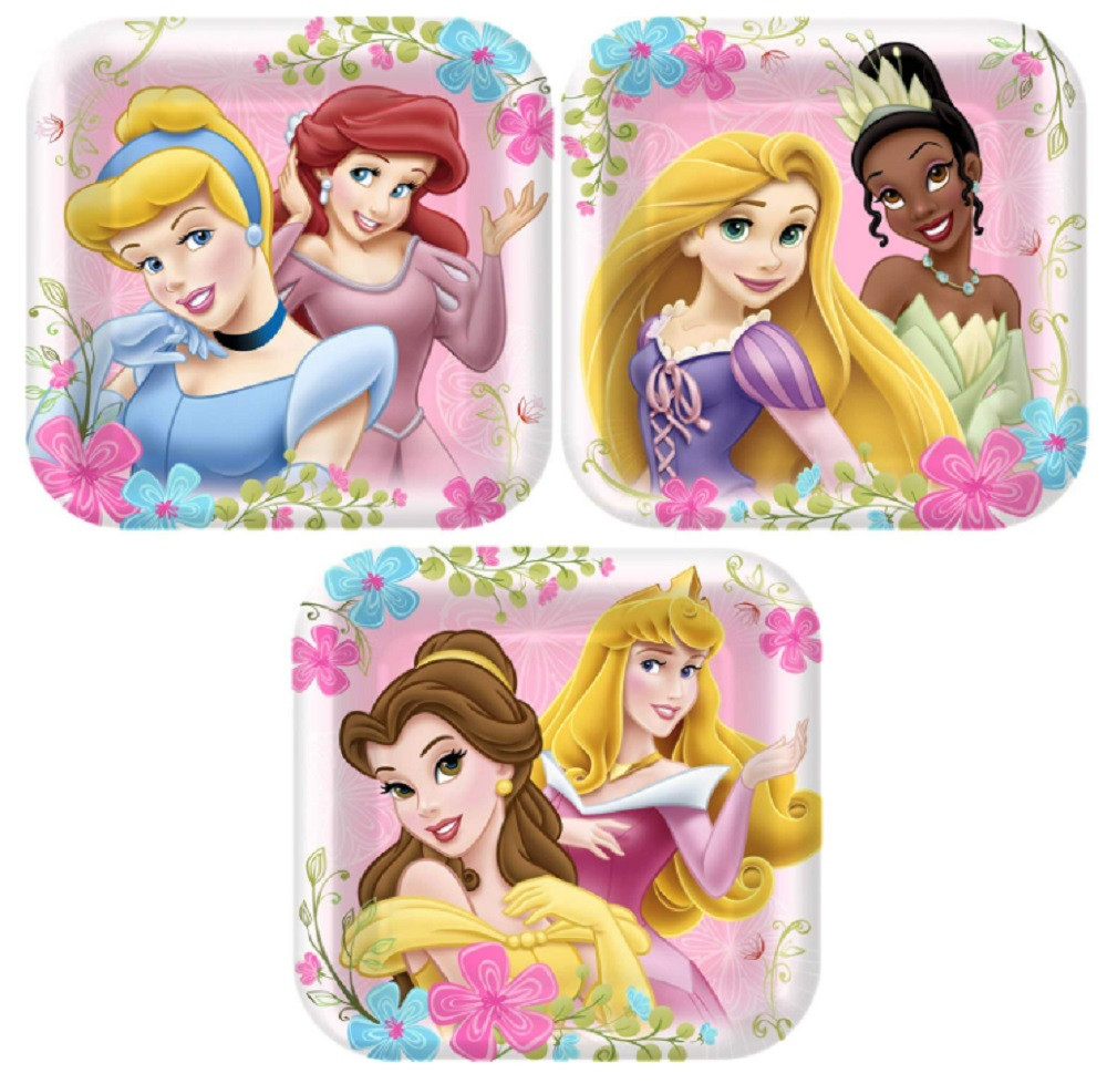 Plates - Disney Princess - Small - 7 in - Paper - 8ct