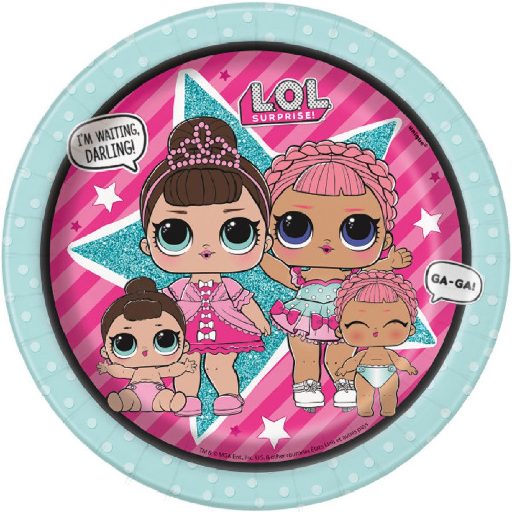 "Party Supplies - LOL Surprise - Plates - Small 7"" - Paper - 8ct"