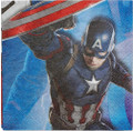 Napkins - Captain America - Large - Paper - 2Ply - 16ct - 13 X 13 in