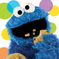 Napkins - Cookie Monster - Large - Paper - 2Ply - 16ct - 13 X 13 in - Sesame Street