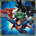 Napkins - Justice League - Large - Paper - 2Ply - 16ct - 13 X 13 in