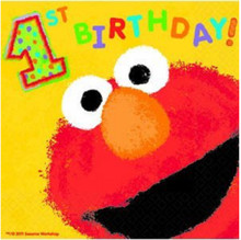 Napkins - Elmo - Large - Paper - 2Ply - 36ct - 13 X 13 in