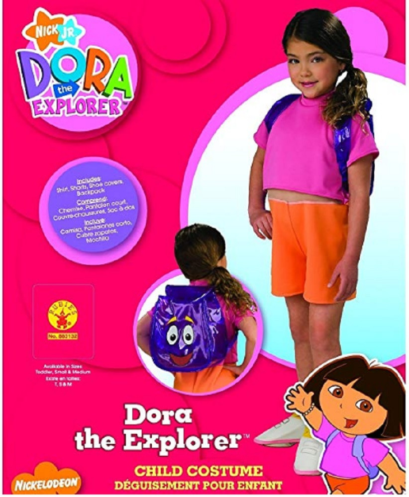 Costume - Dora the Explorer - Kids - Size Small - Size 4-6 - Ages 3-4 Years
