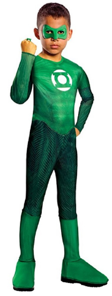 Costume - Green Lantern - Hal Jordan - Kids - Size Medium - Size 8-10 - Ages 5-7 Years