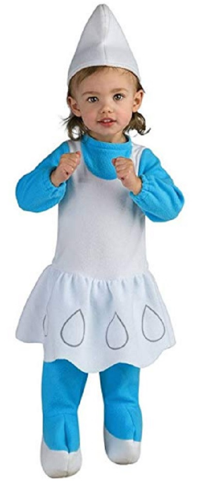 Costume - Smurfs - Smurfette - Kids - Size Toddler - Size 1-2 - Ages 1-2 Years