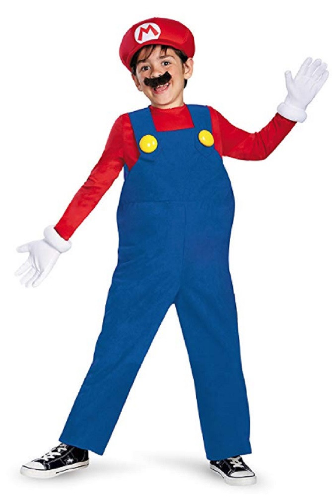 Costume - Super Mario - Deluxe Mario - Kids - Size Small - Size 4-6 - Ages 3-4 Years