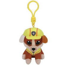 Plush Clip On - Paw Patrol - Rubble - 3in - Beanie Boo