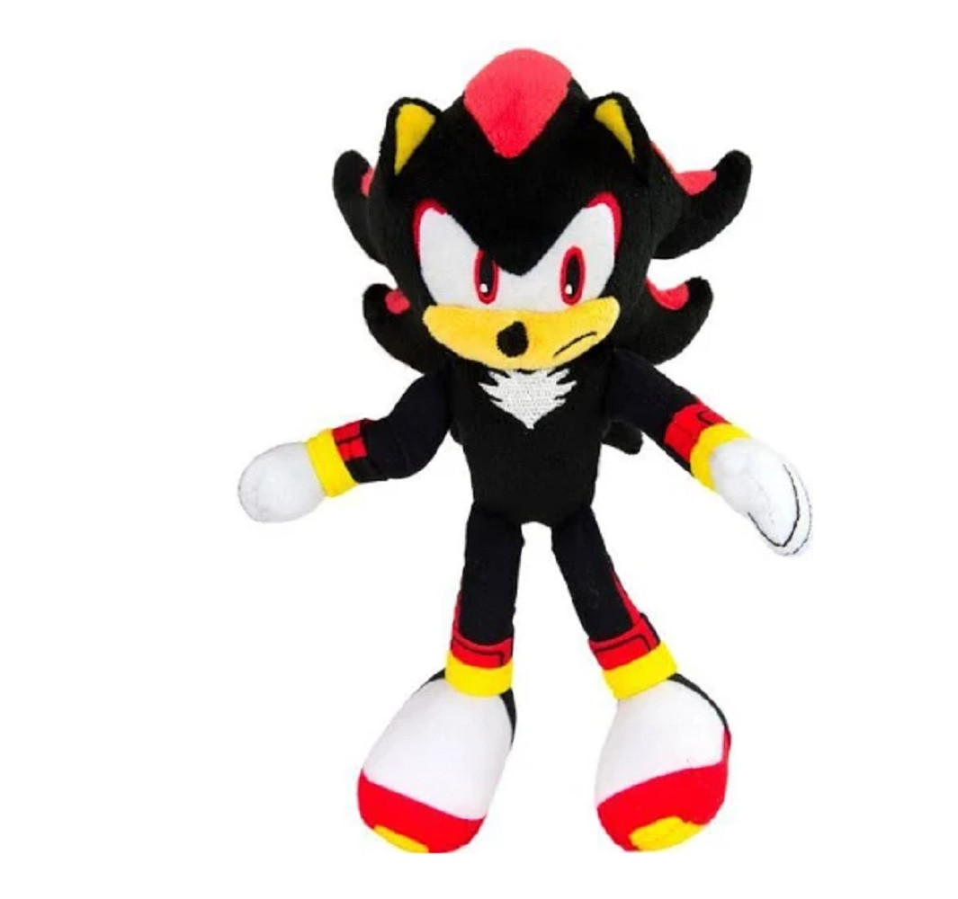 Sonic The Hedgehog Shadow Plush Toy Frowning Partytoyz