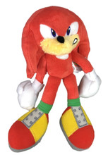 Plush Toy - Sonic the Hedgehog - Knuckles - 8 Inch - Angry
