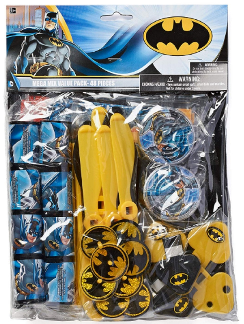 Party Favors - Batman - Mega Mix Value Pack - 48pc Set
